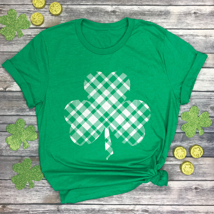 Plaid Shamrock Premium Unisex T-Shirt