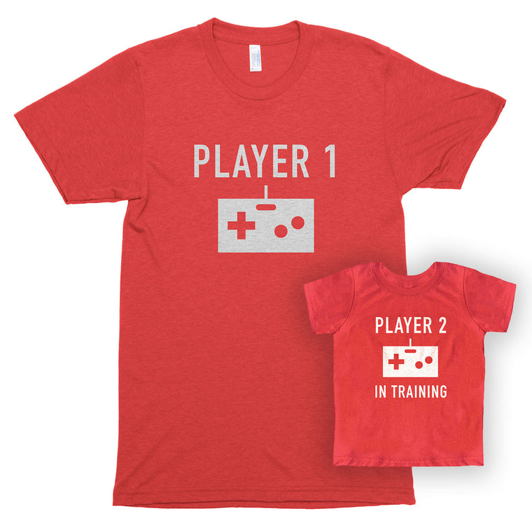 Player 1 & Player 2 in Training Unisex/Toddler Jersey Shirt Set