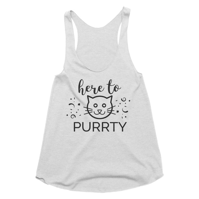 Here to Purrty Tank Top