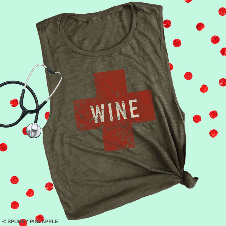 Wine Army Muscle Tee