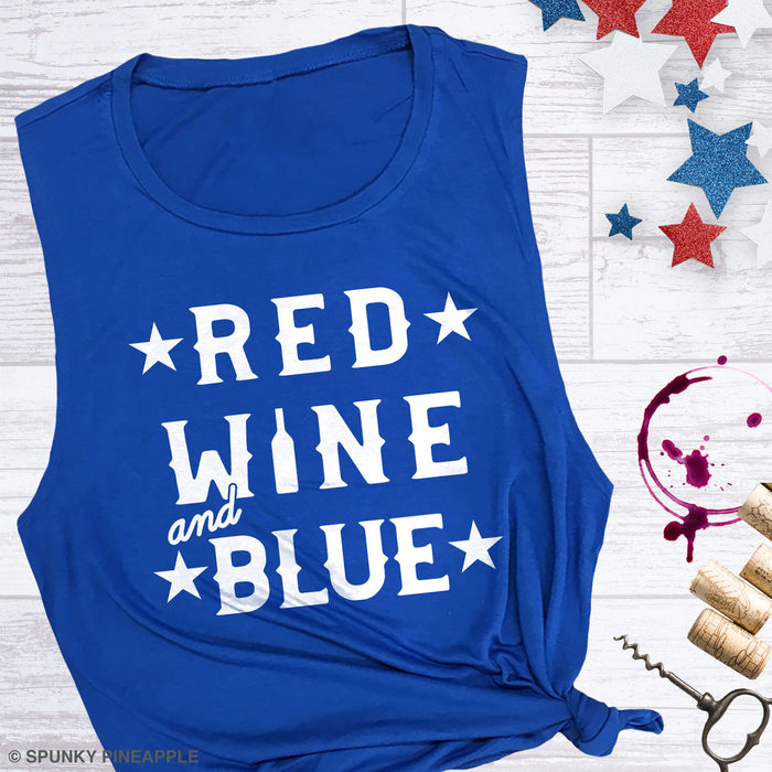 Red, Wine & Blue Muscle Tee