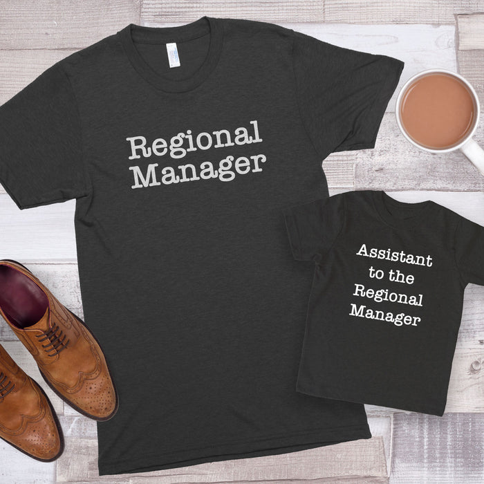 Regional Manager & Assistant to the Regional Manager Premium Unisex T-Shirt/Toddler Jersey Shirt Set