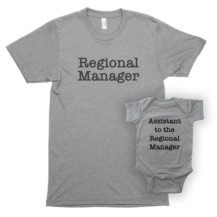 Regional Manager & Assistant to the Regional Manager Unisex/Infant Bodysuit Shirt Set