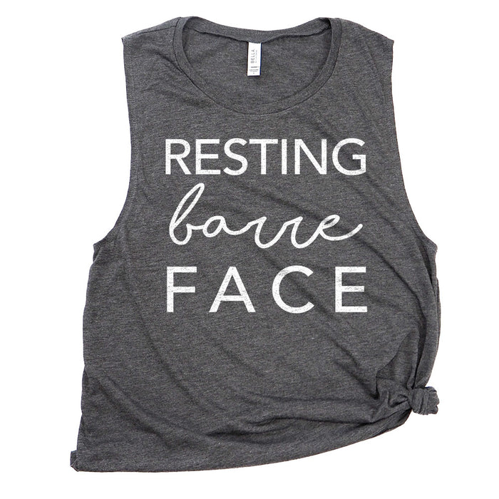 Resting Barre Face Funny Workout Muscle Tee Shirts