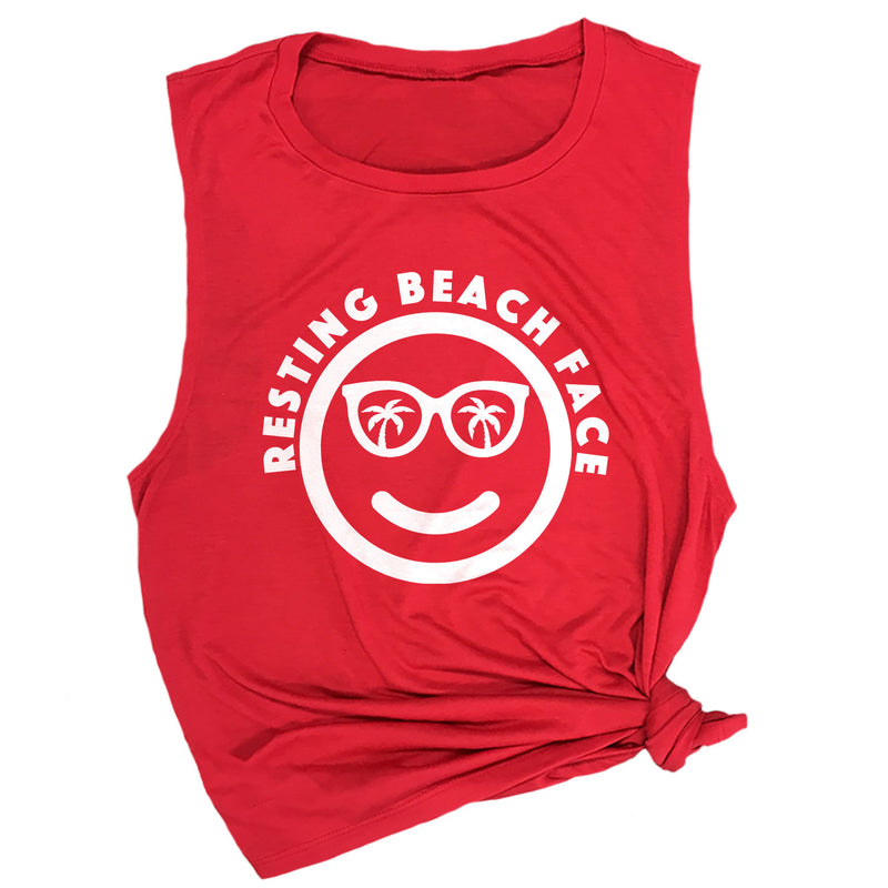Resting Beach Face Muscle Tee