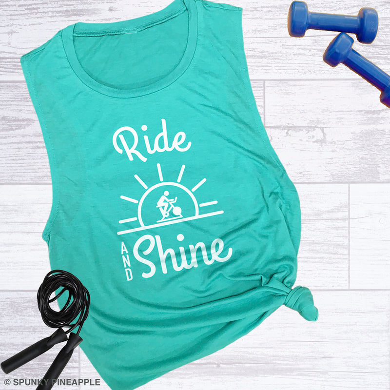 Ride & Shine Women's Fitness Muscle Tank