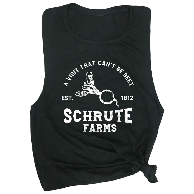 A Visit That Can't Be Beet Schrute Farms Est. 1812 Muscle Tee