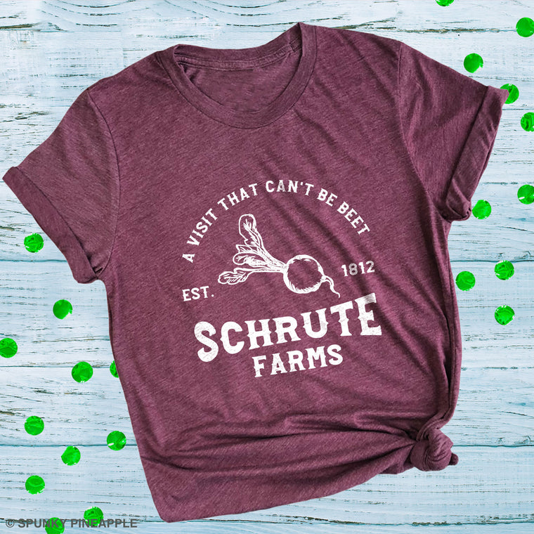 A Visit that Can't Be Beet Schrute Farms Est. 1812 Premium Unisex T-Shirt