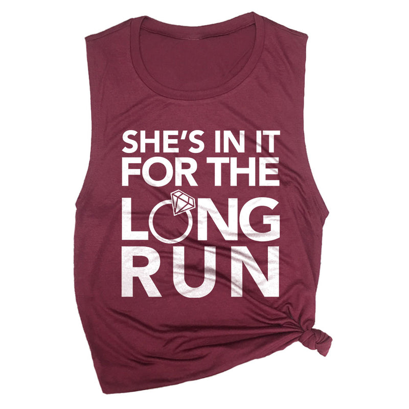She's in it for the Long Run Muscle Tee