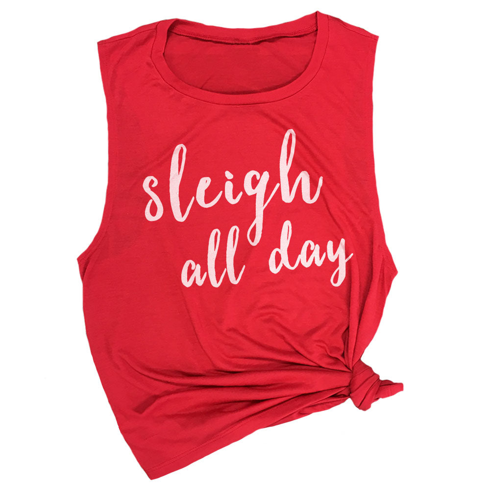 Sleigh All Day Muscle Tee