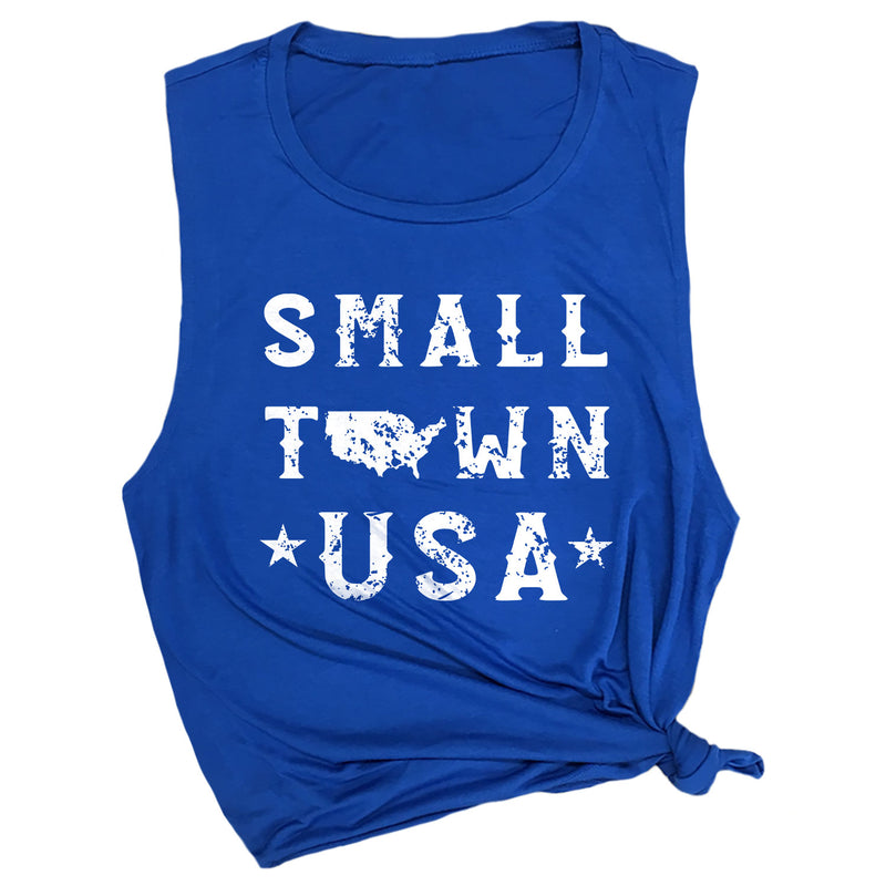 Small Town USA Muscle Tee