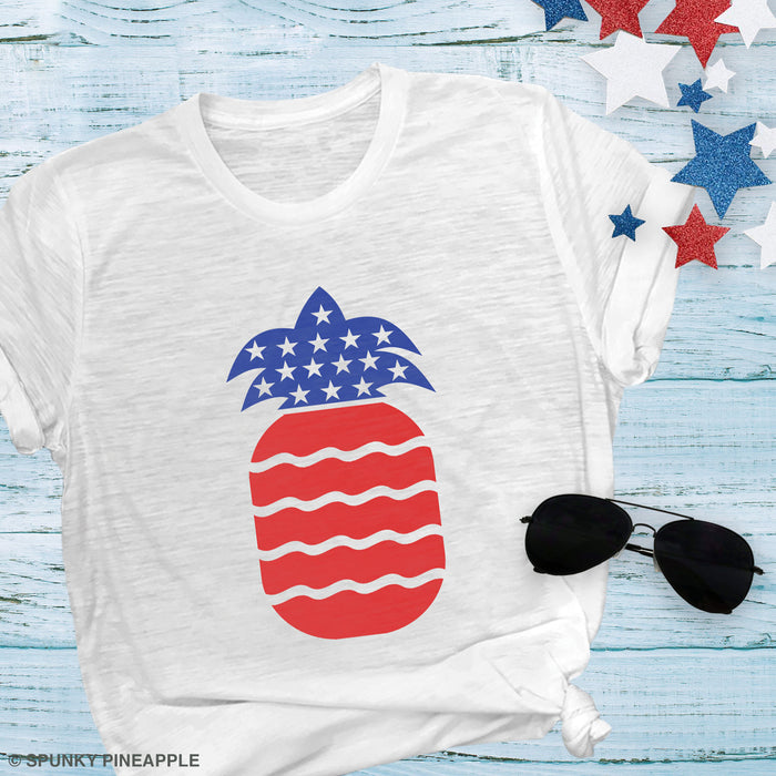 Stars & Stripes Pineapple Premium Unisex T-Shirt