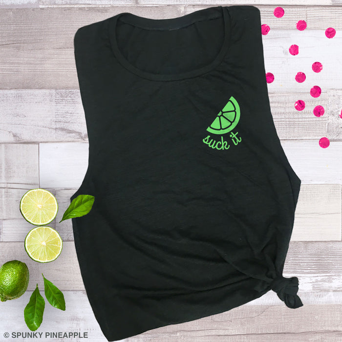Suck It (with Lime) Muscle Tee