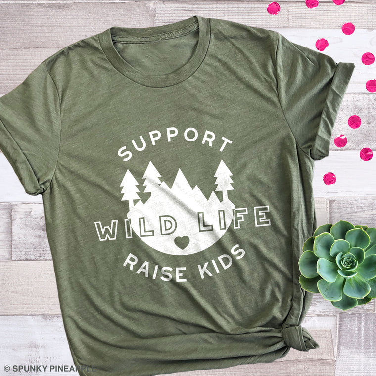 Support Wild Life Raise Kids Premium Unisex T-Shirt