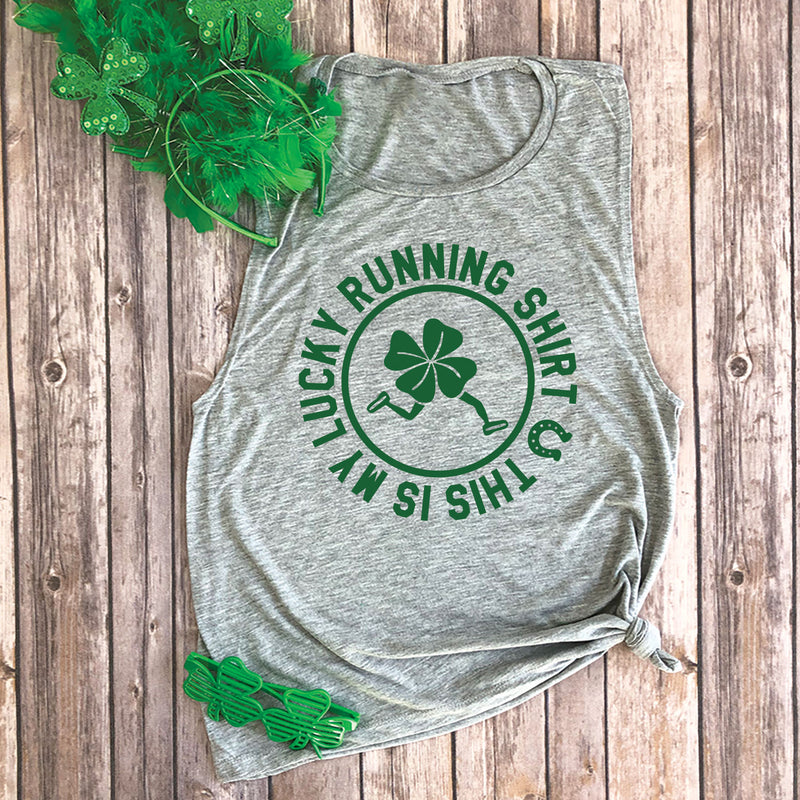 This is My Lucky Running Shirt Muscle Tee