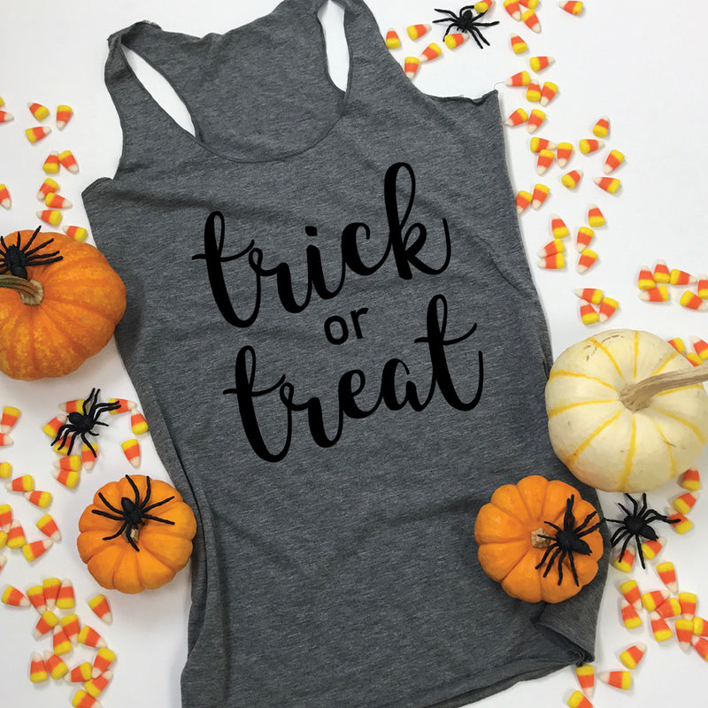 Trick or Treat Halloween Tank Top for Women