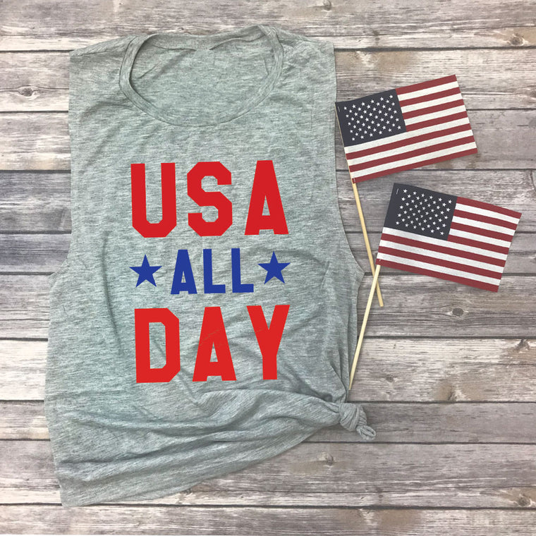 USA All Day Muscle Tee