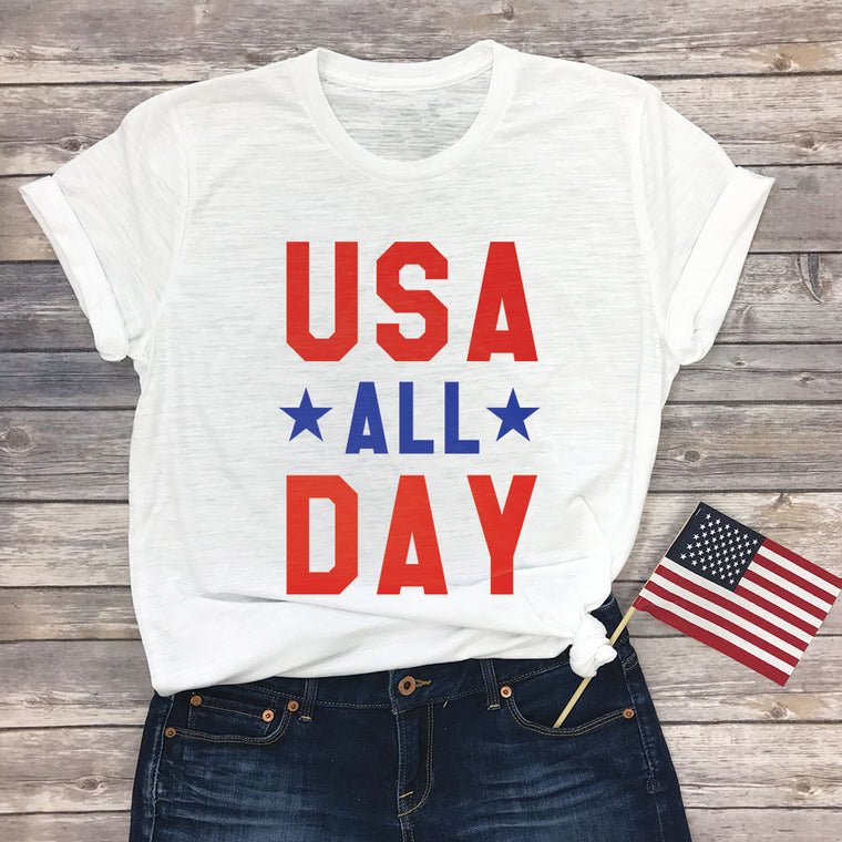 USA All Day Basic Tee
