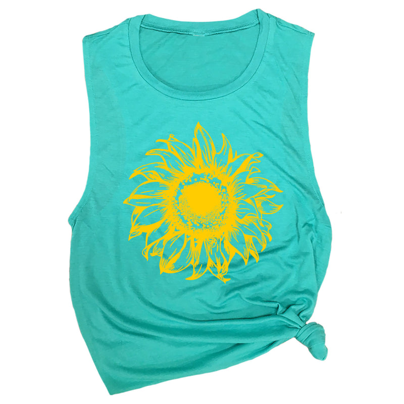 Vintage Sunflower Muscle Tee