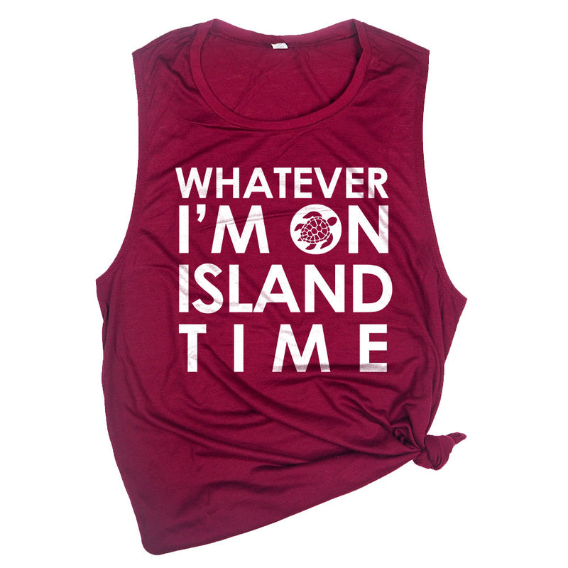 Whatever I'm on Island Time (Turtle) Muscle Tee