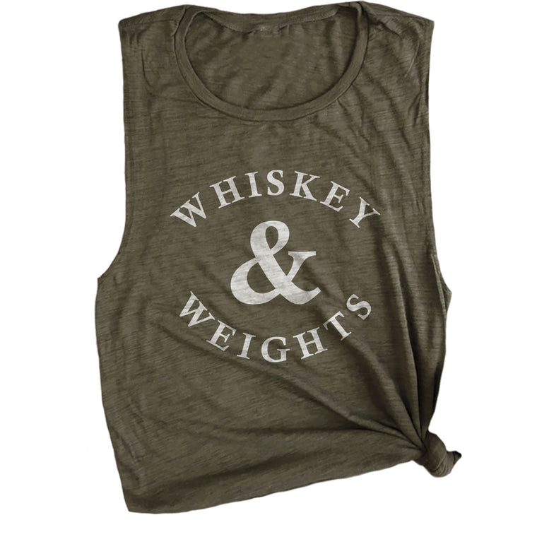 Whiskey + Weights Muscle Tee
