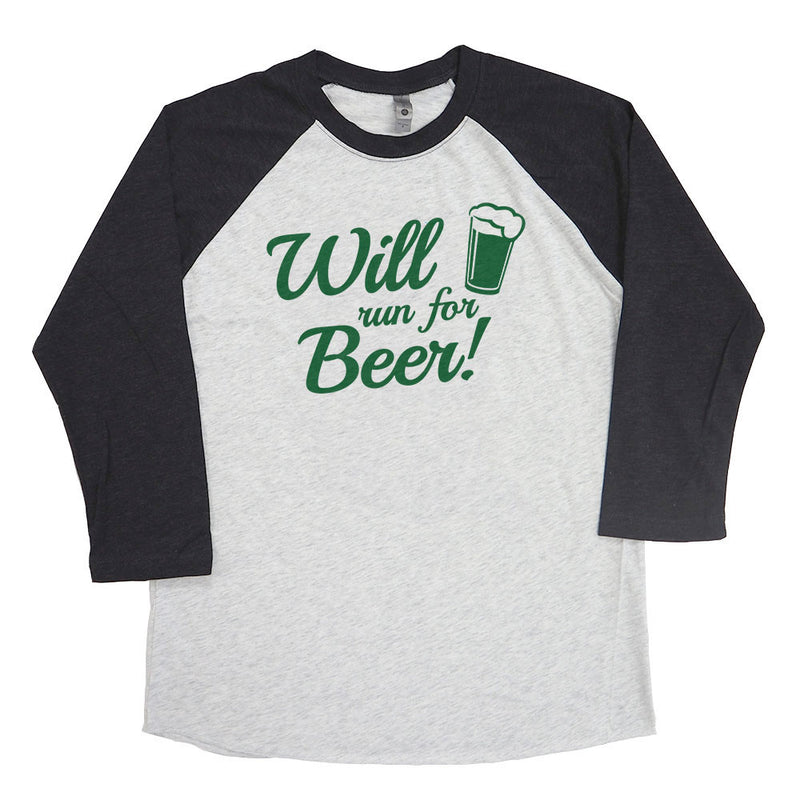 Will Run for Beer Raglan Tee