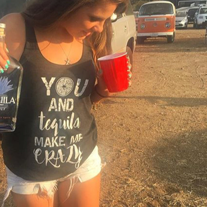 You and Tequila Make Me Crazy Tank Top