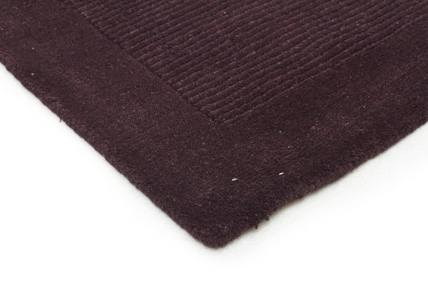 Timeless Loop Wool Pile Eggplant Coloured Runner Rug