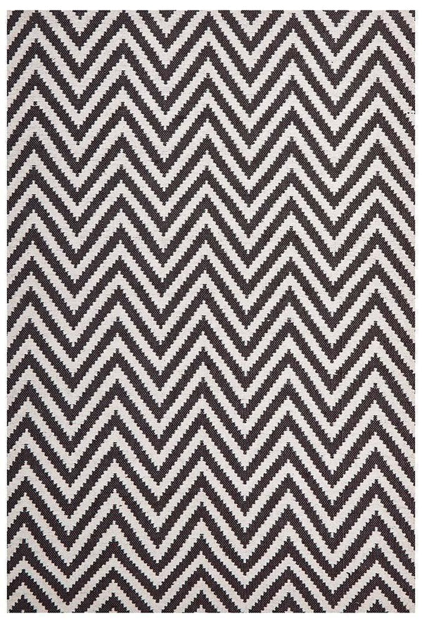 Abode Chevron Design Chocolate Rug
