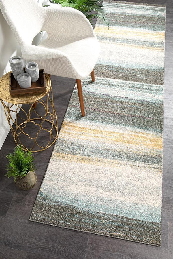 Aspect Riverside Gravel Multi Runner Rug