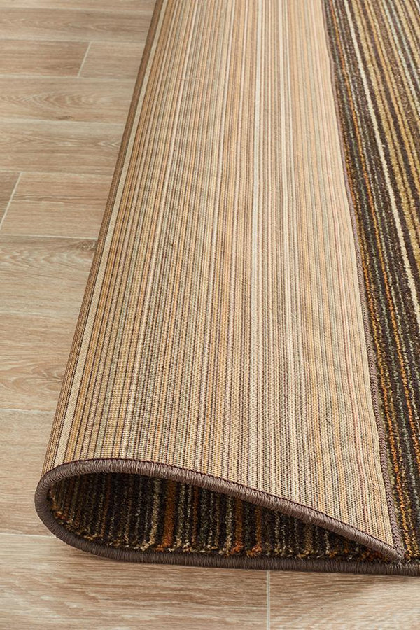 Byblos Traditional Stripped Beige Rug