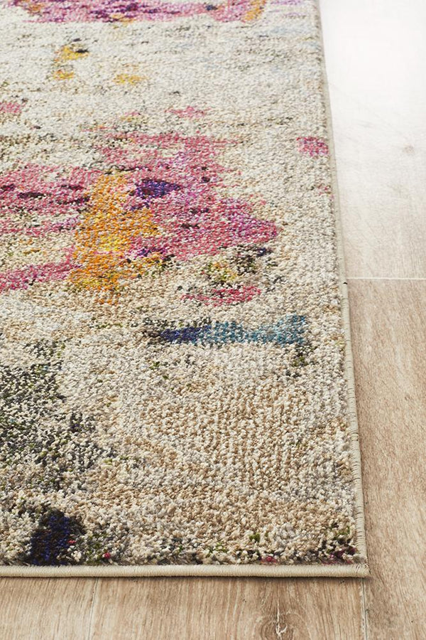 Crystal Britney Radiant Contemporary Rug Multi