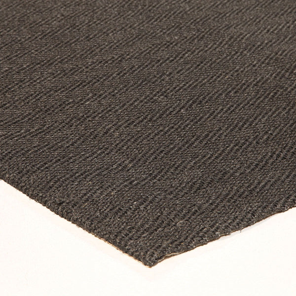 Eco Sisal Herringbone Charcoal Runner