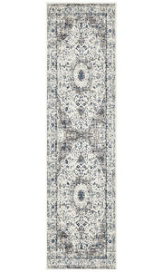 Evoke Mist White Transitional Runner Rug