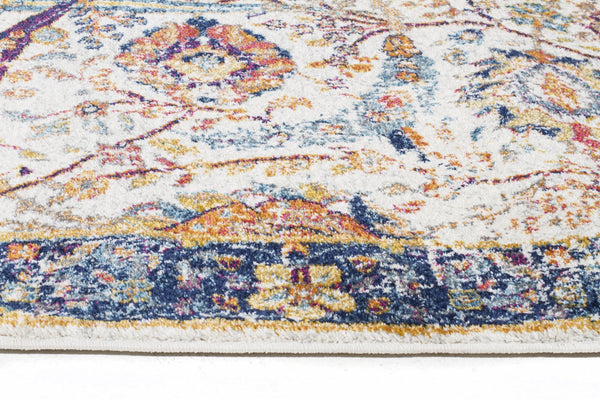 Evoke Peacock Ivory Transitional Rug