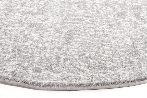 Evoke Homage Grey Transitional Round Rug