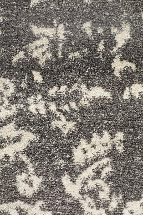 Evoke Stream Grey Transitional Runner Rug