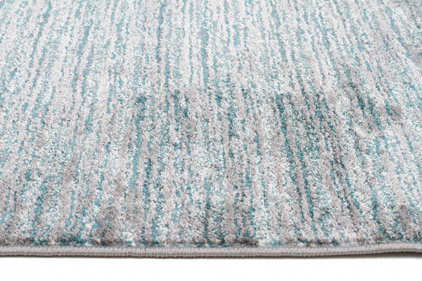 Harmony Pandora Contemporary Stripe Blue Grey Rug