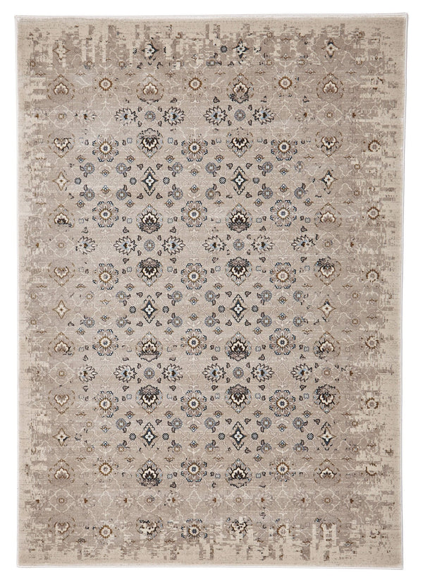 Heirloom Royal Kashan Designer Ivory Beige Rug