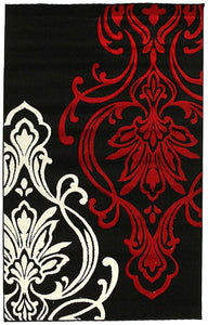 Icon Stunning Thick Designer Rug Black
