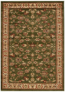 Istanbul Collection Traditional Floral Pattern Green Rug