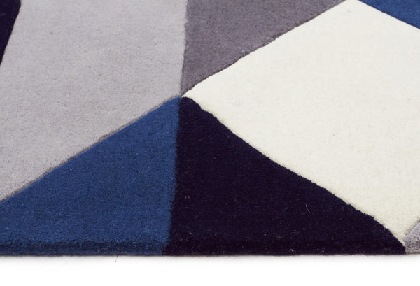 Matrix Pure Wool Steel Runner Rug Rug