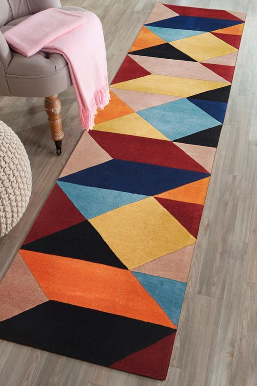 Matrix Pure Wool Sunset Runner Rug