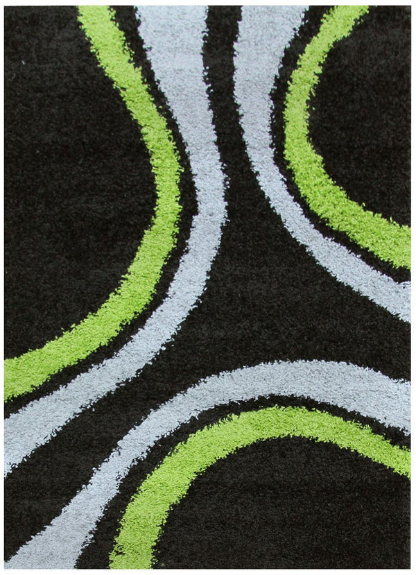 Notes Collection 3 Black And Green Rug
