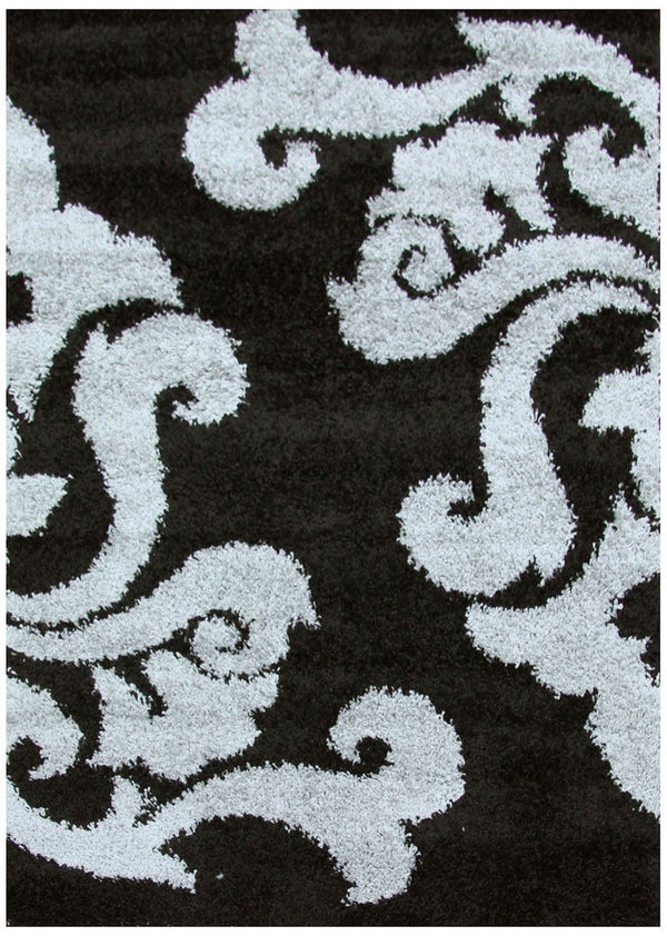 Notes Collection 6 Black And Grey Rug