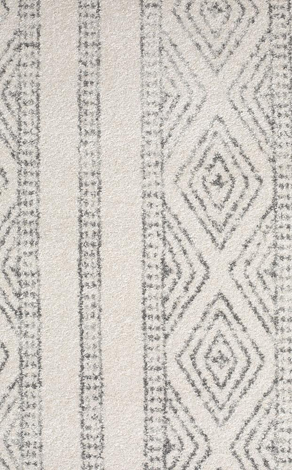 Oasis Salma White And Grey Tribal Runner Rug