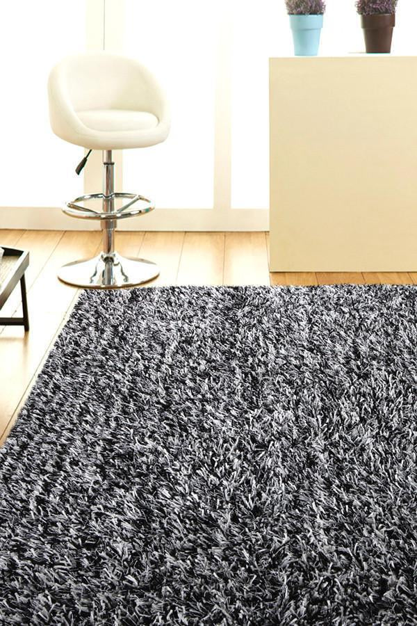 Orlando Collection Black And White Rug