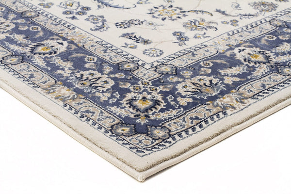 Palace Manal Oriental Runner Rug White Blue