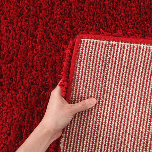 Pandora Collection Thick Soft Polar Red Shag Rug