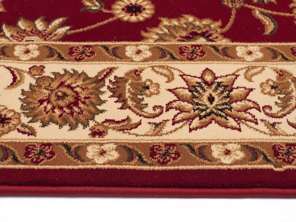 Sydney Classic Runner Red With Ivory Border Runner Rug